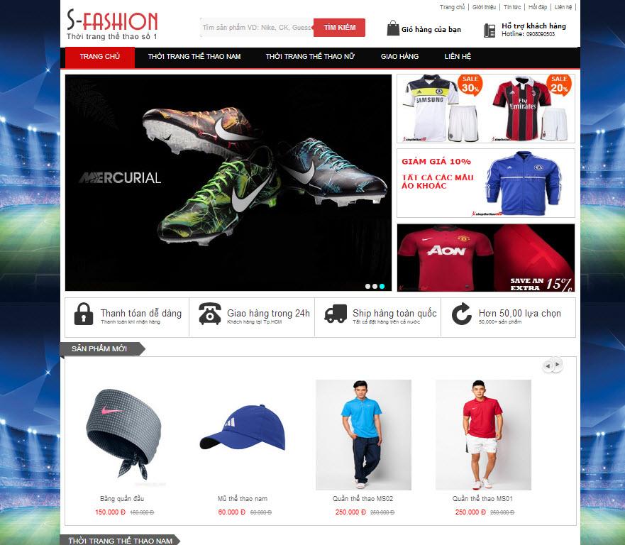 [s083] Shop thể thao- khẳng định đẳng cấp!